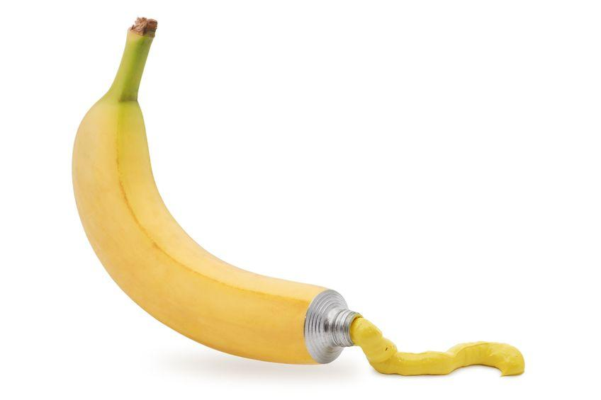 Banana Squirting Yellow Toothpaste