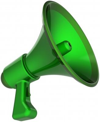 Green Loud Hailer