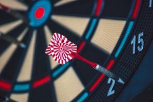 arrow in a dart board