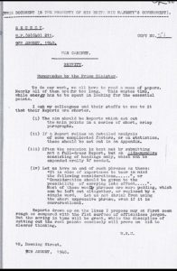 Winston Churchill Memo on Brevity
